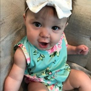 Other - Mint Floral Baby Romper
